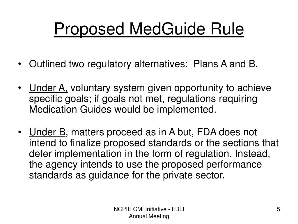 Proposed MedGuide Rule