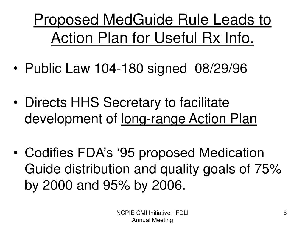 Proposed MedGuide Rule Leads to