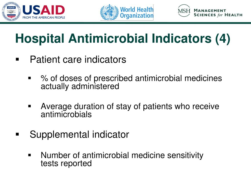 Patient care indicators