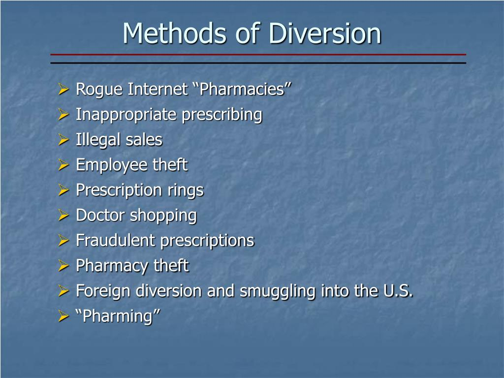 Methods of Diversion