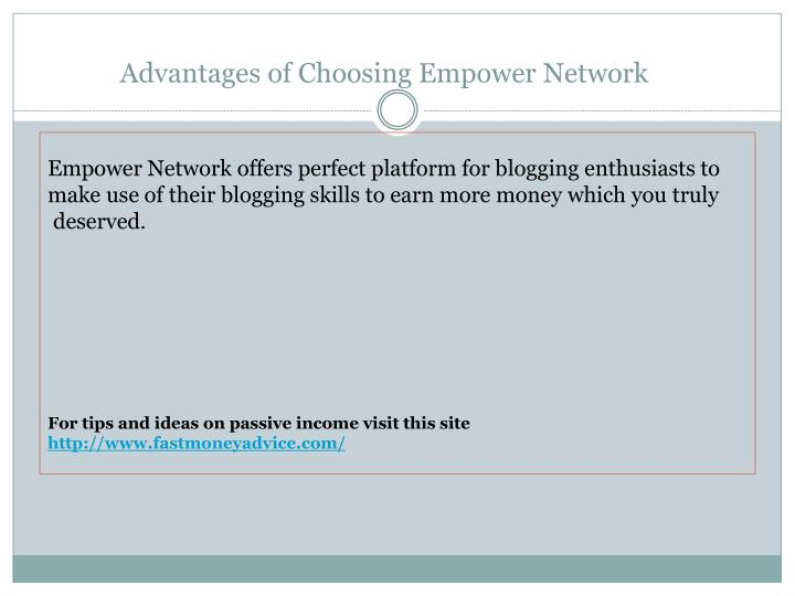 Advantages of choosing empower network