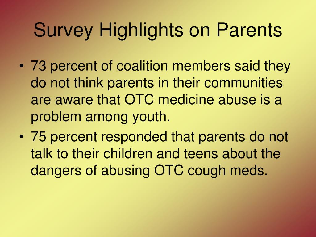 Survey Highlights on Parents