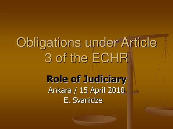 article 2 of the echr Life, liberty and security: article 2 echr and inquests article 2 echr has had a profound impact upon coronial law, no more so than in relation to.