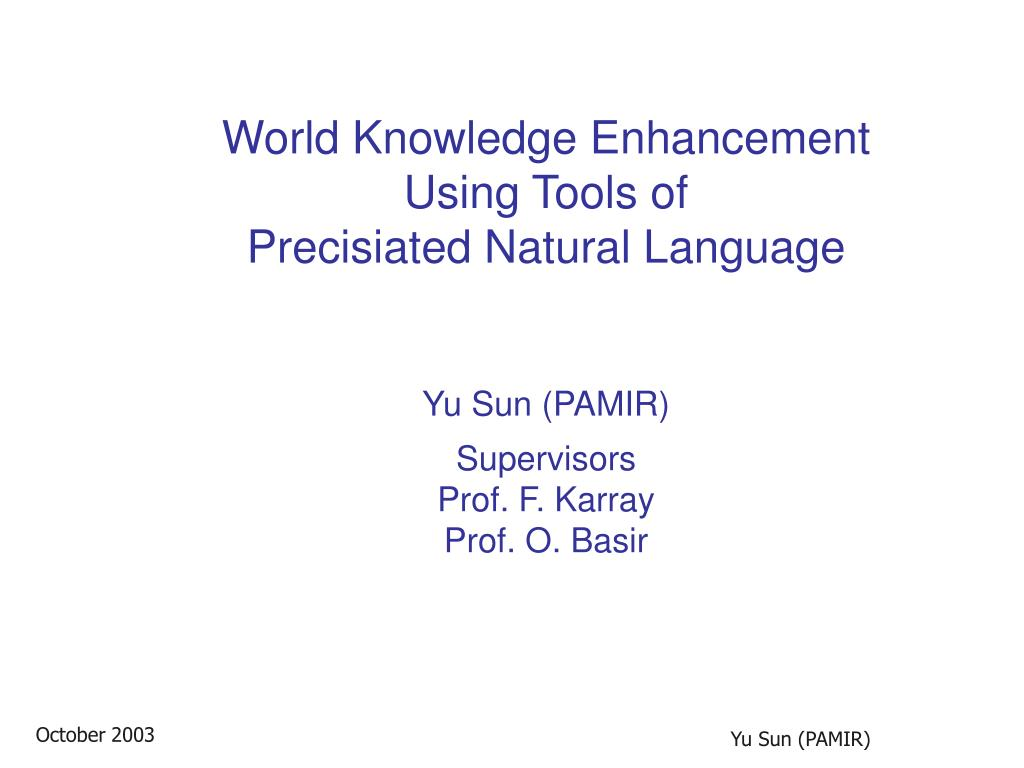 World Knowledge Enhancement