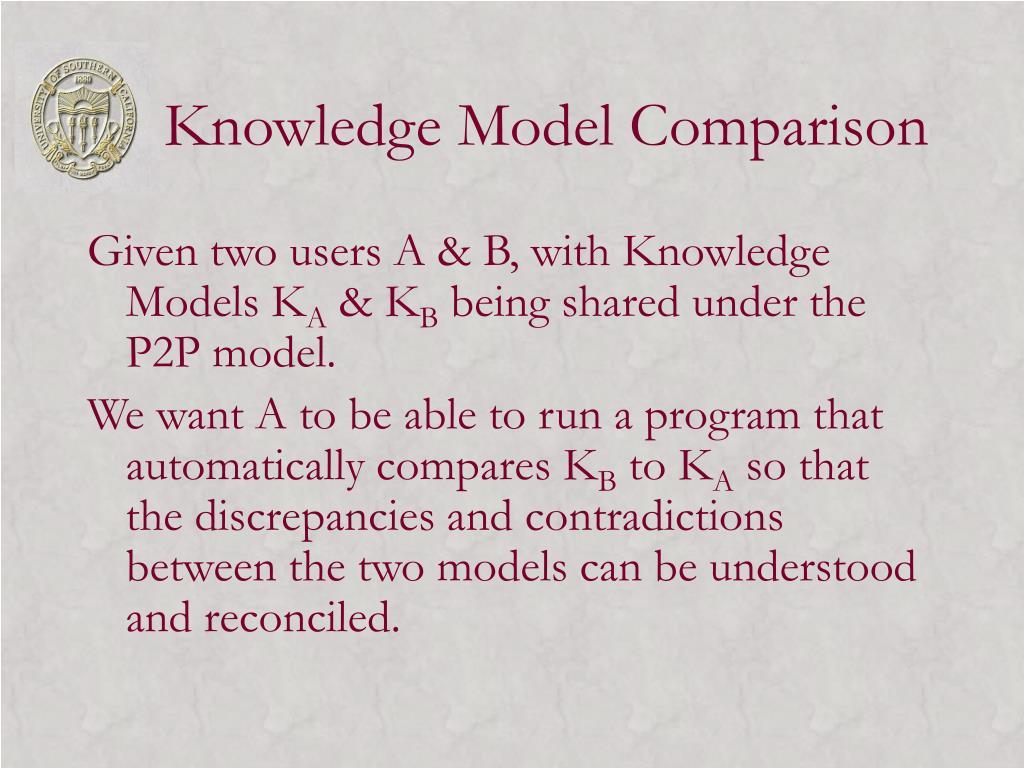 Knowledge Model Comparison