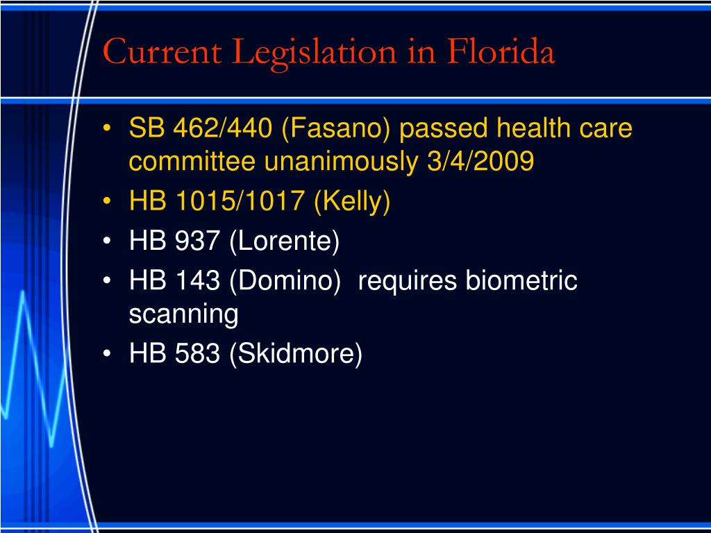 Current Legislation in Florida