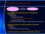 establish treatment goals