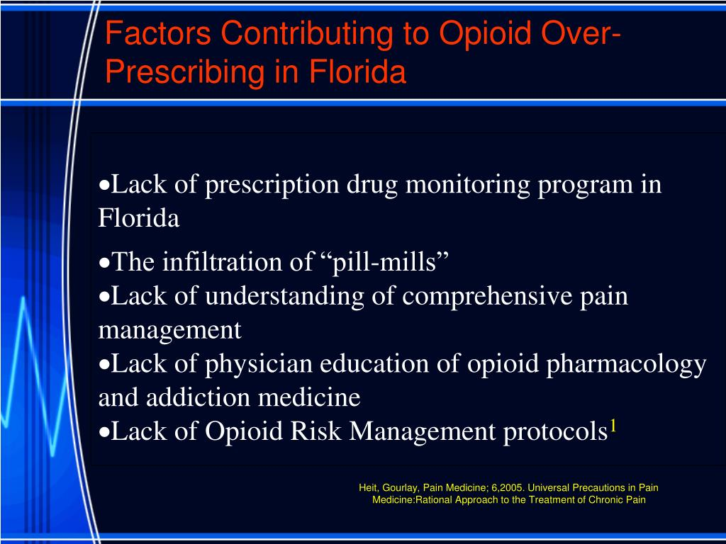 Factors Contributing to Opioid Over-Prescribing in Florida