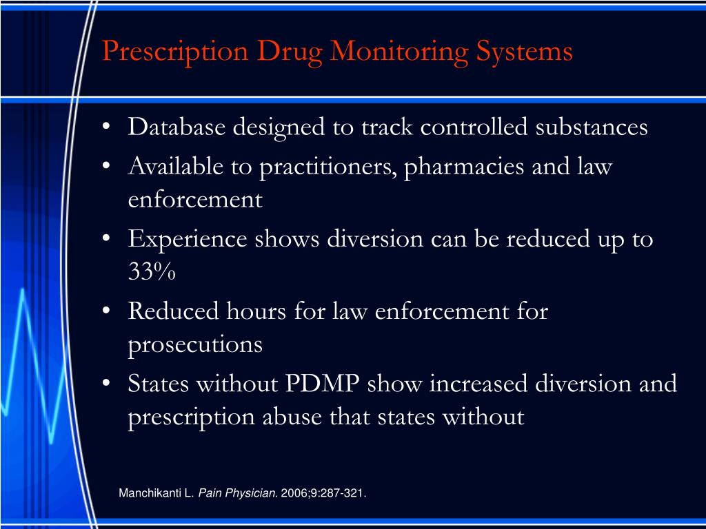 Prescription Drug Monitoring Systems