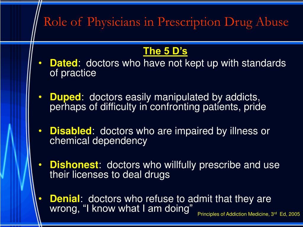 Role of Physicians in Prescription Drug Abuse