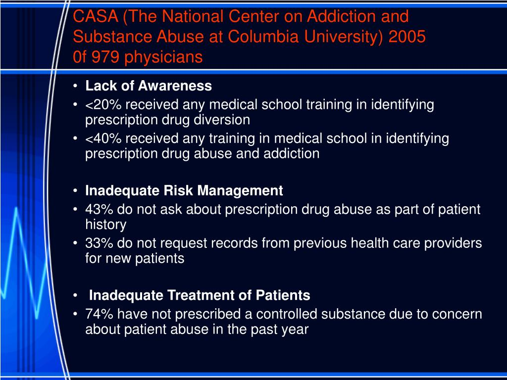 CASA (The National Center on Addiction and Substance Abuse at Columbia University) 2005