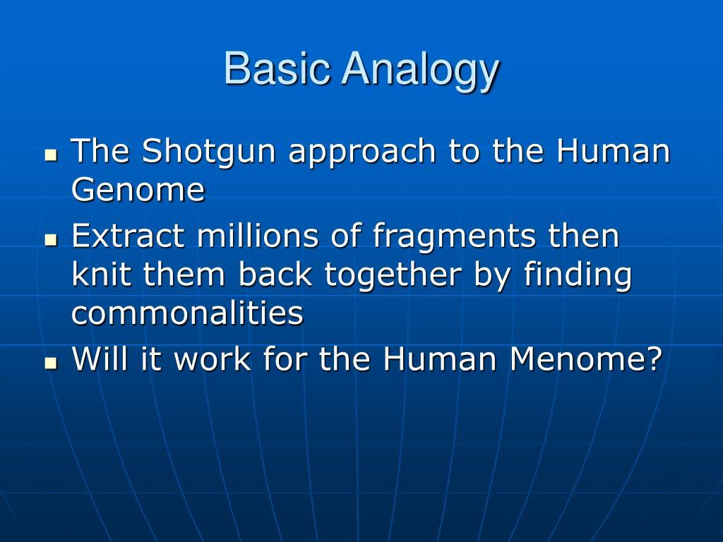 Basic Analogy