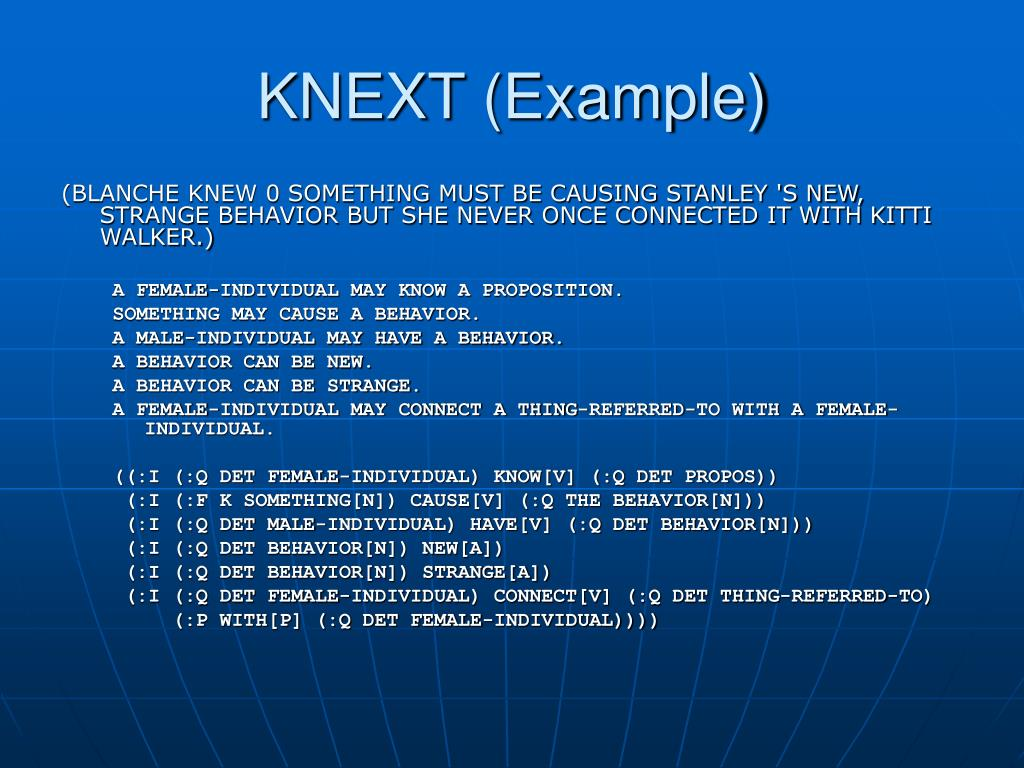KNEXT (Example)