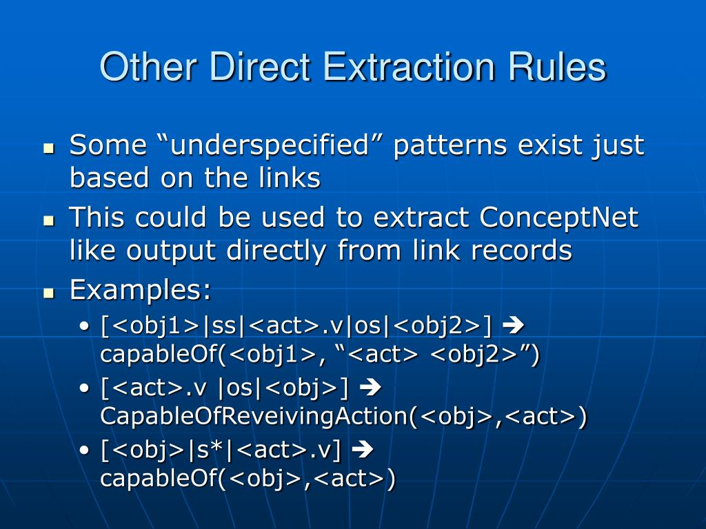 Other Direct Extraction Rules