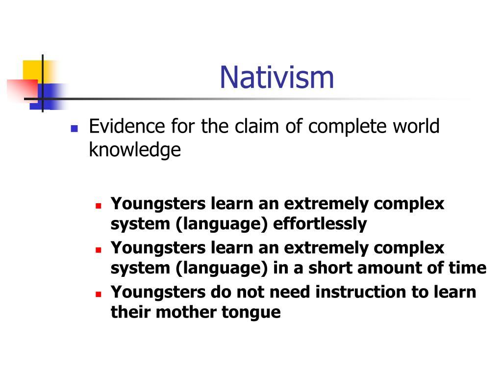 Nativism