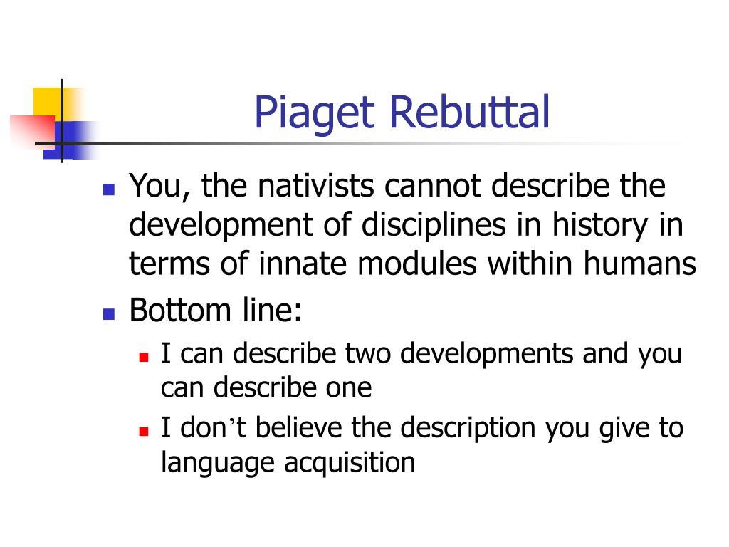 Piaget Rebuttal