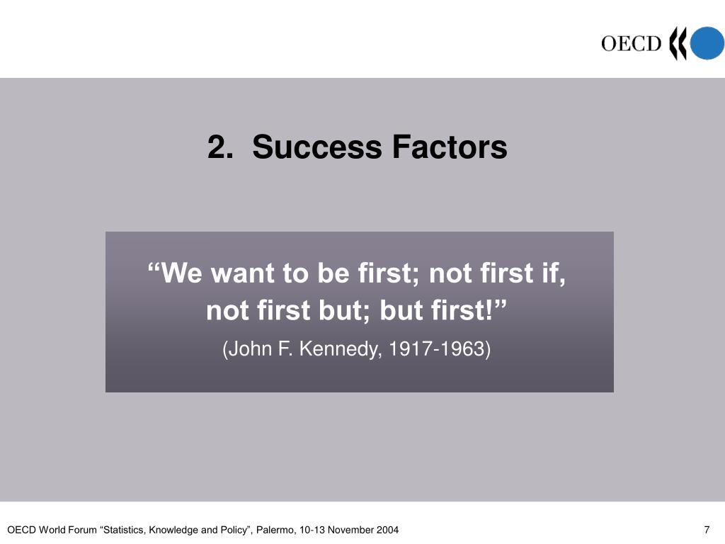 2.  Success Factors