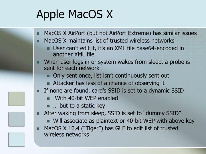 Apple MacOS X
