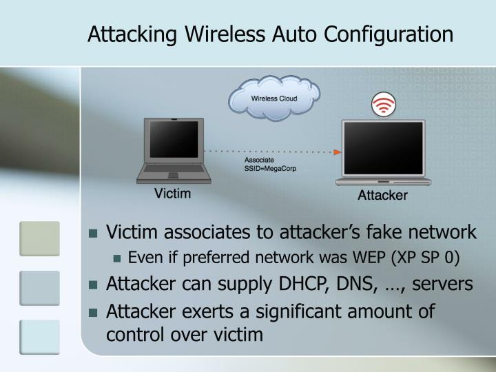 Attacking Wireless Auto Configuration