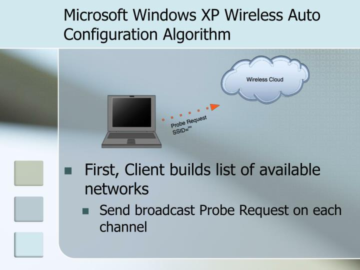 Microsoft Windows XP Wireless Auto Configuration Algorithm