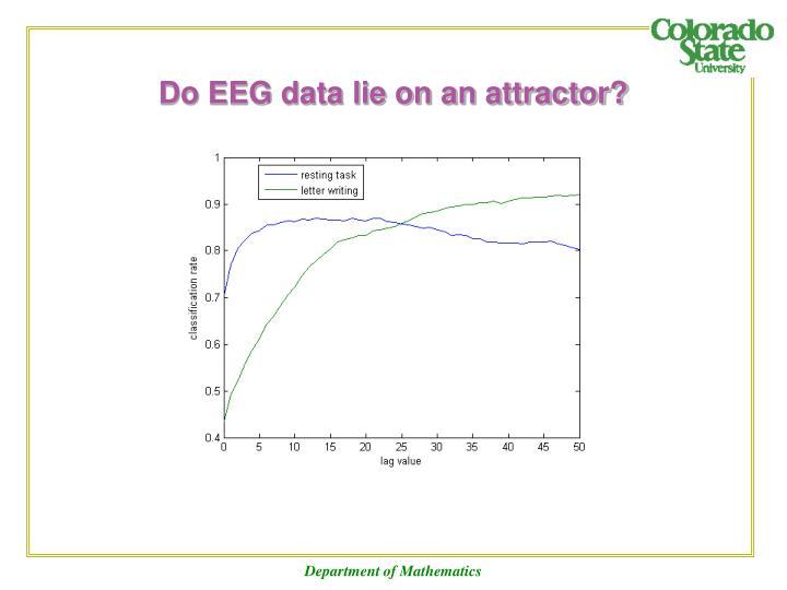 Do EEG data lie on an attractor?