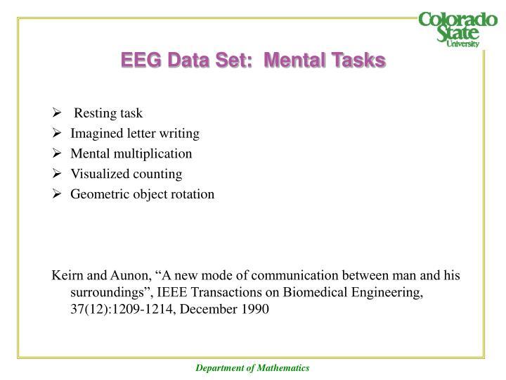 EEG Data Set:  Mental Tasks