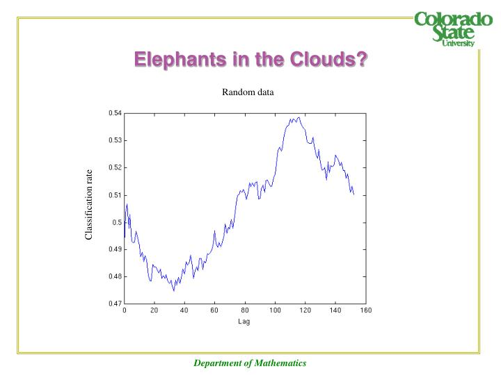 Elephants in the Clouds?