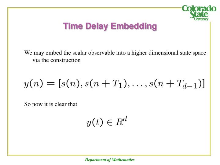 Time Delay Embedding