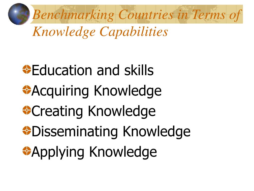 Benchmarking Countries in Terms of Knowledge Capabilities