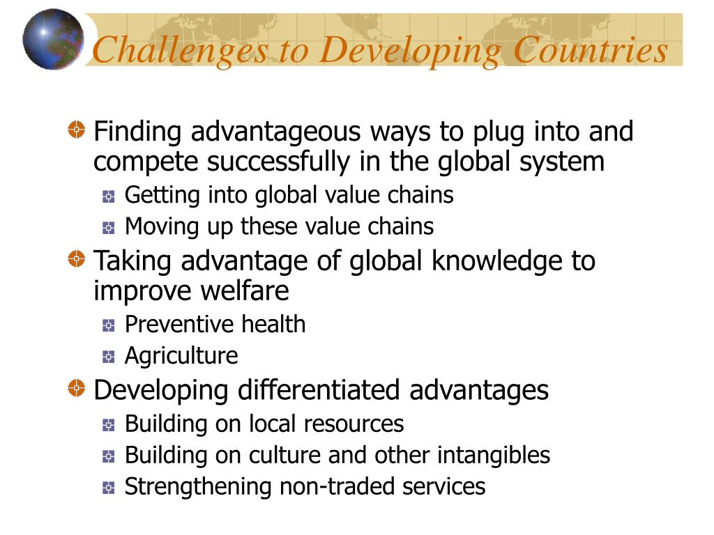 Challenges to Developing Countries