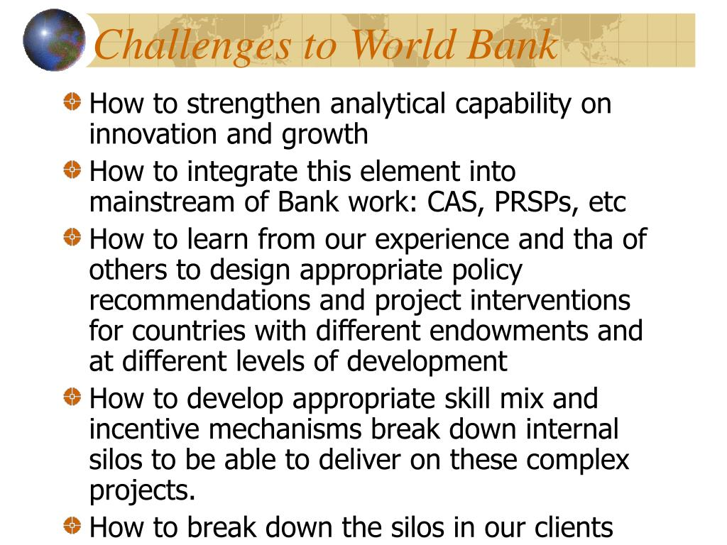 Challenges to World Bank