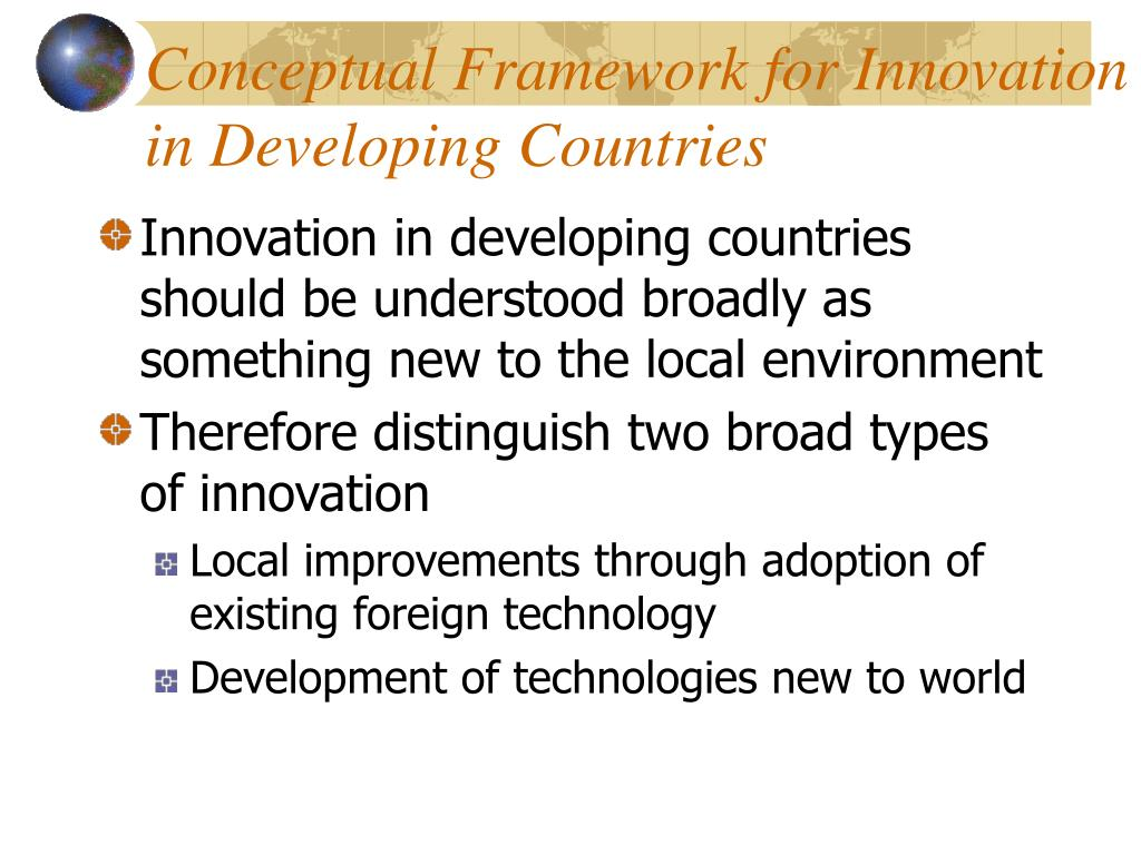 Conceptual Framework for Innovation in Developing Countries