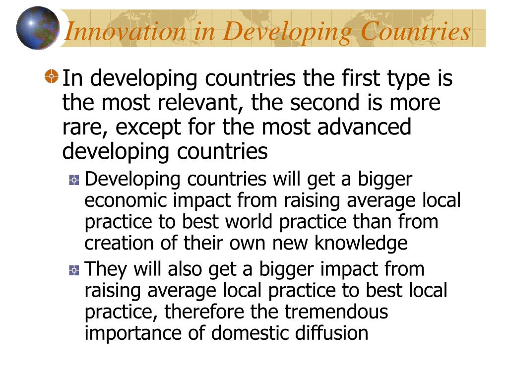 Innovation in Developing Countries