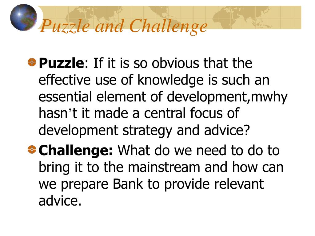 Puzzle and Challenge