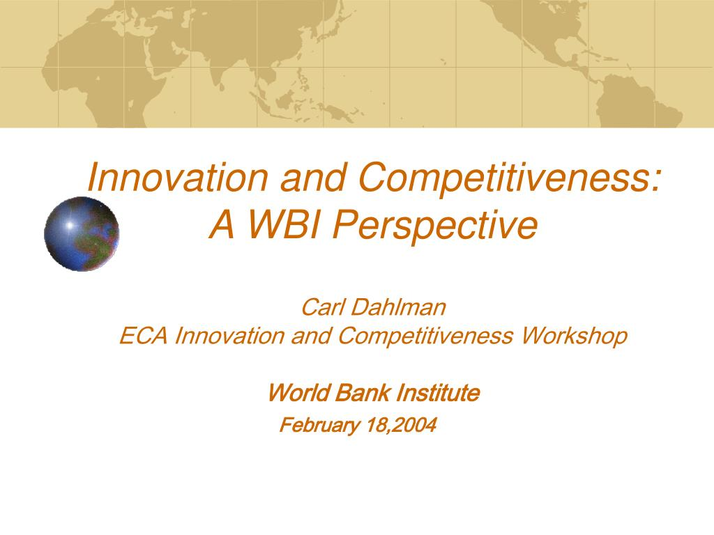Innovation and Competitiveness: