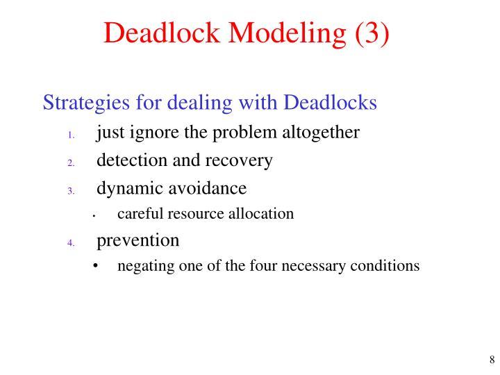 Deadlock Modeling (3)