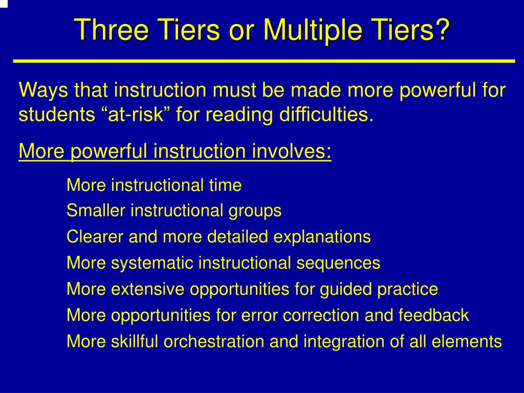 Three Tiers or Multiple Tiers?