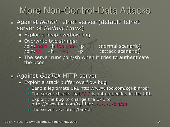 More Non-Control-Data Attacks