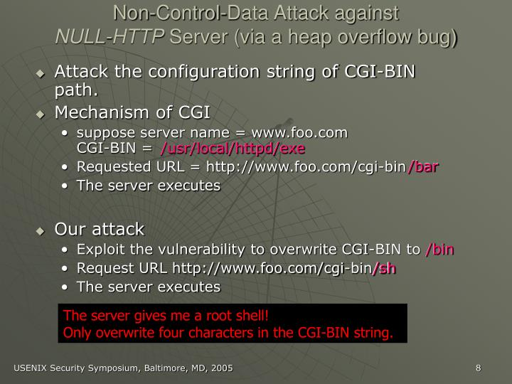Non-Control-Data Attack against