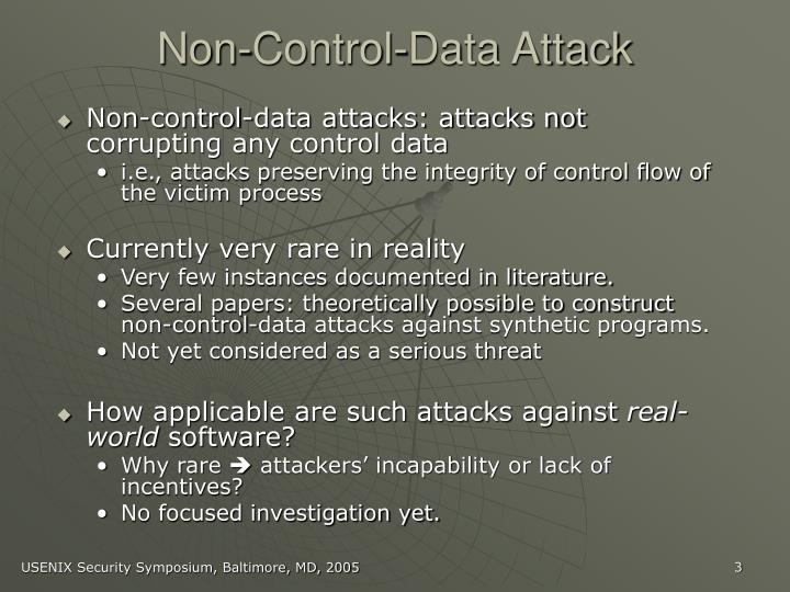 Non-Control-Data Attack
