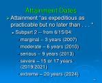attainment dates1