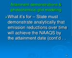 attainment demonstrations photochemical grid modeling
