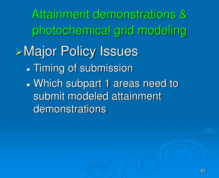 Attainment demonstrations & photochemical grid modeling