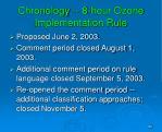 chronology 8 hour ozone implementation rule