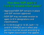 how does nsr apply in 1 hr 8 hr nonattainment areas