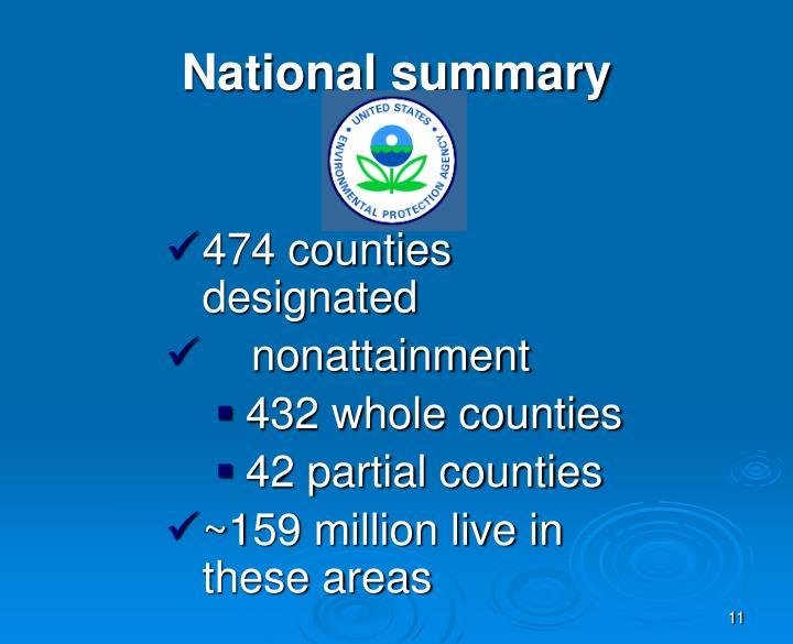 National summary