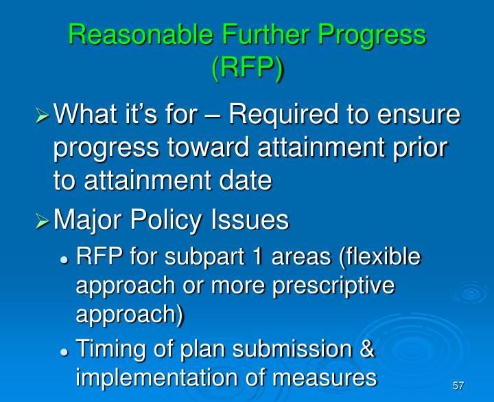 Reasonable Further Progress (RFP)