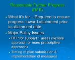 reasonable further progress rfp