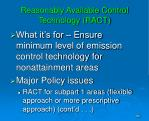 reasonably available control technology ract
