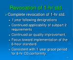 revocation of 1 hr std
